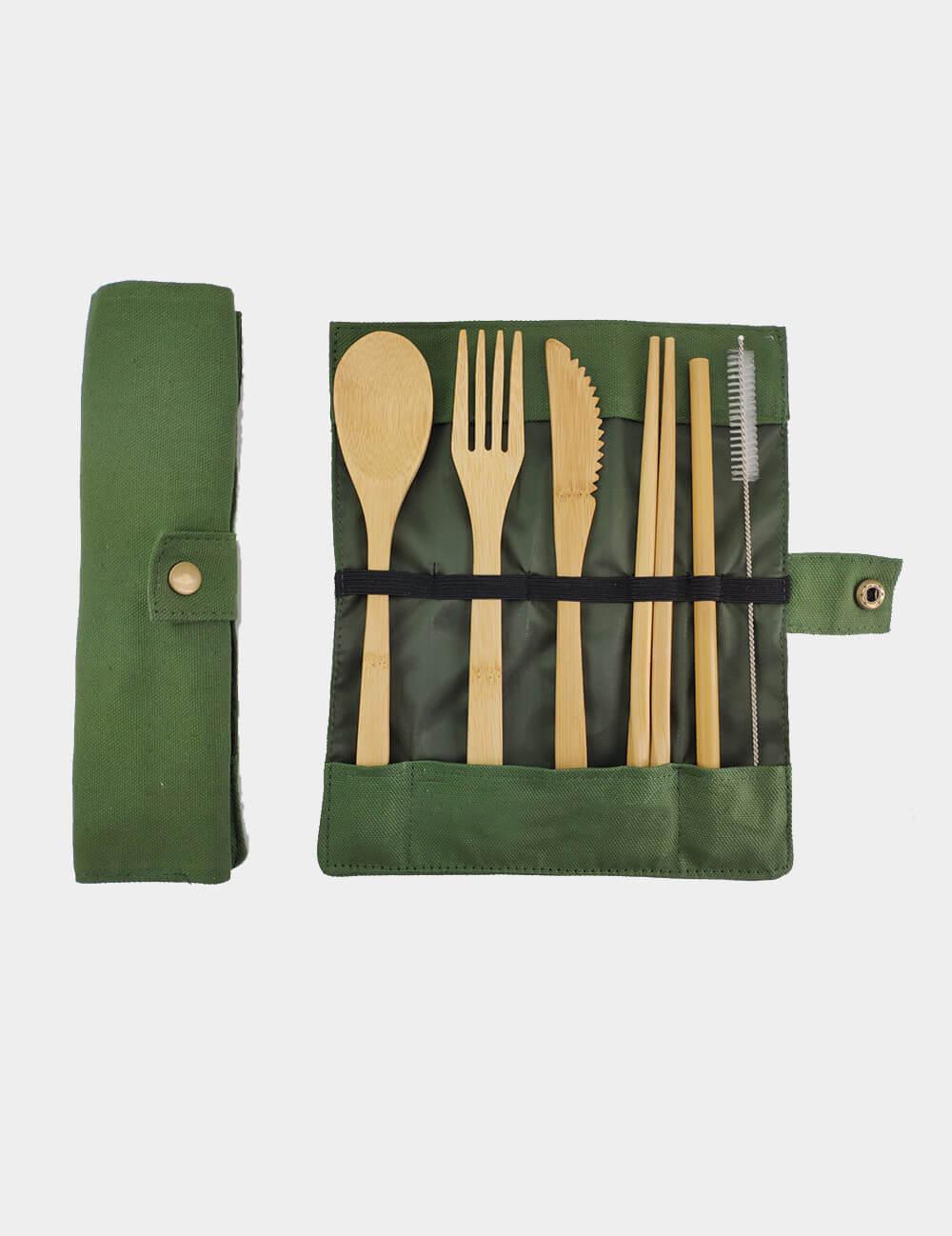 Bamboo Cutlery 6 Piece Image 3